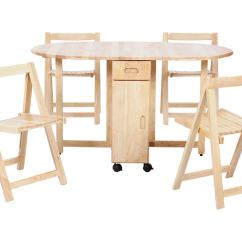 Rubberwood Butterfly Table With 4 Chairs Office Chair Cushion Natural Finish Oval Extending Extendable Dining And