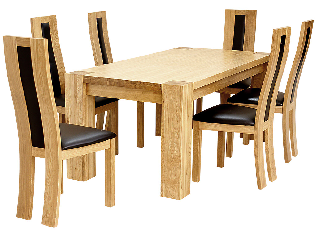 two seater dining table and chairs india senior chair exercises solid oak wood veneer set with 6