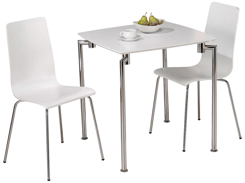 two seater dining table and chairs india staples office high gloss finish square chair set with 2