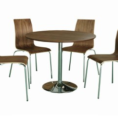Bentwood Dining Chair Bariatric Shower With Wheels Walnut Finish Round Table And Set