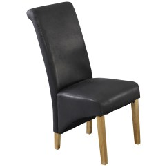 Faux Leather Dining Chairs Ergonomic Chair Back Angle Pack Of 2 Seat Black Brown Ebay
