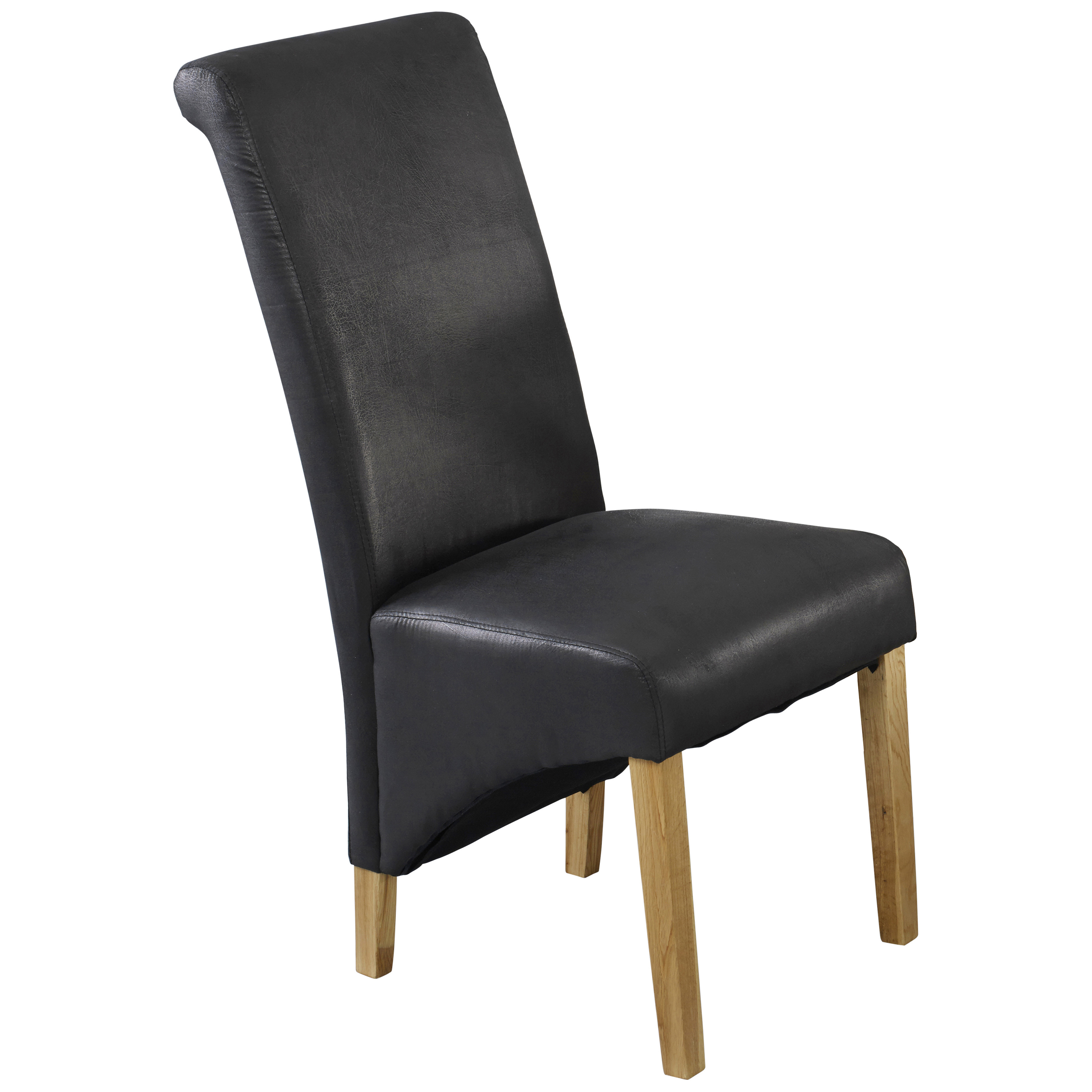 Black Leather Dining Chairs Pack Of 2 Faux Leather Dining Seat Chair Black Brown Ebay