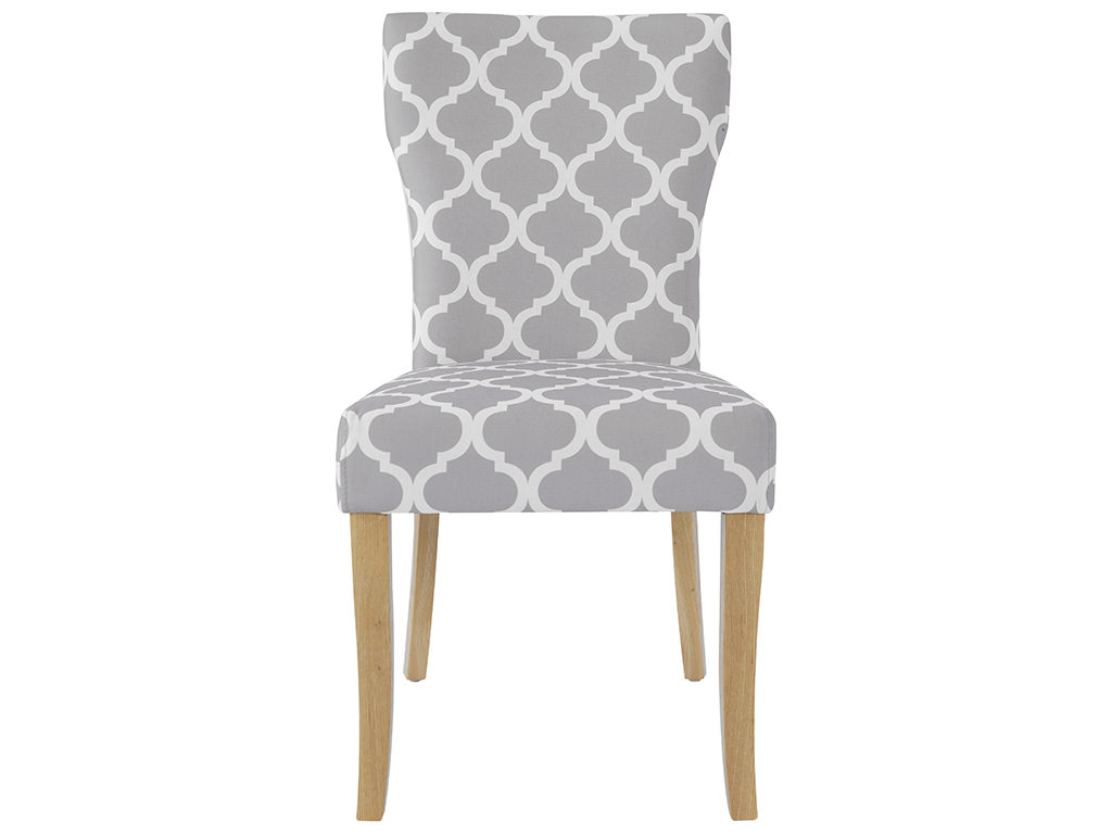 White Fabric Dining Chairs Pack Of 2 Grey And White Fabric Dining Seat Chair Ebay