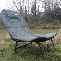 Tall Fishing Chair Acrylic Desk With Cushion Cyprinus Extra Large Wide Reclining Carp For