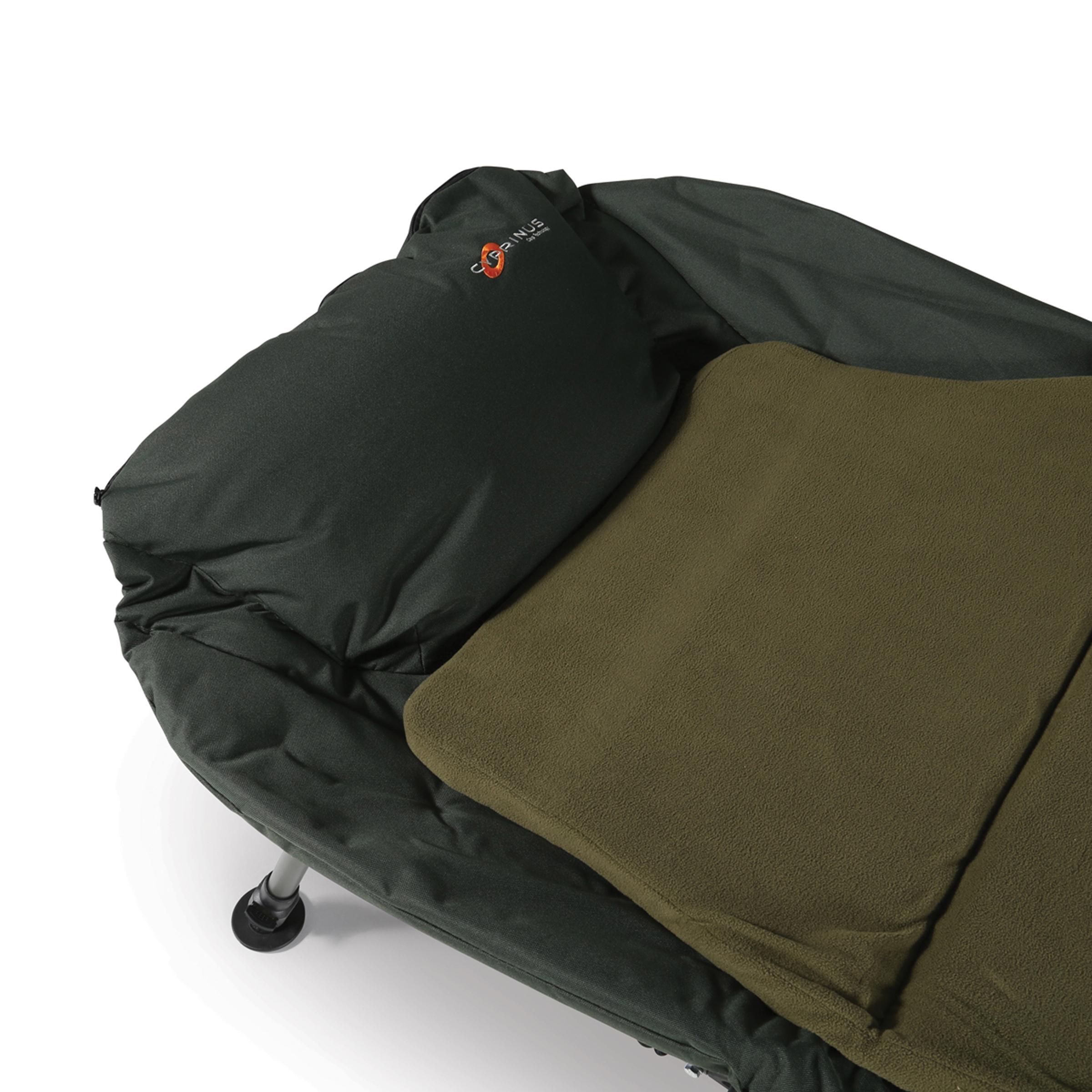 memory foam chair bed uk folding boat chairs cyprinus cyprimax 6 leg carp fishing bedchair