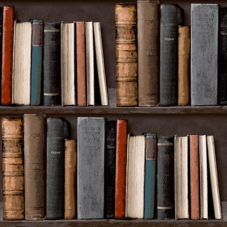 details about bookcase wallpaper