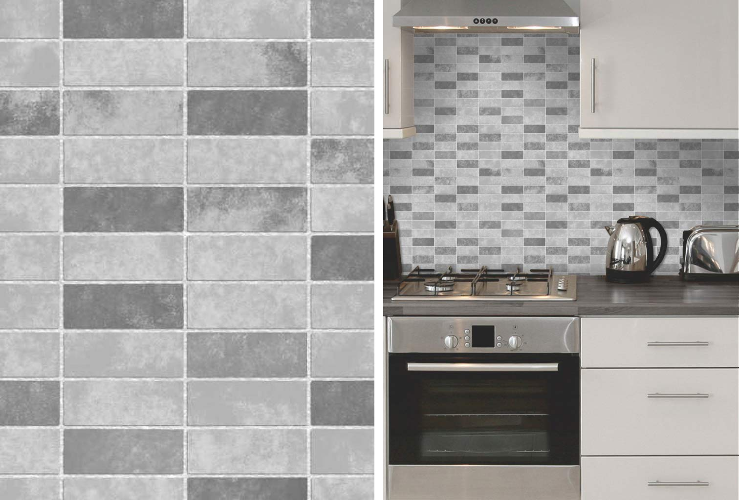 vinyl wallpaper kitchen backsplash remodeling silver spring md grey stone tile effect expanded bathroom