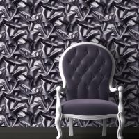 3D effect Velvet Silk Fabric Grey Black Crumpled Crushed ...