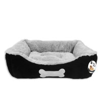 Luxury Faux Suede Dog Bed with Plush Fleece Lining 18x14x6 ...