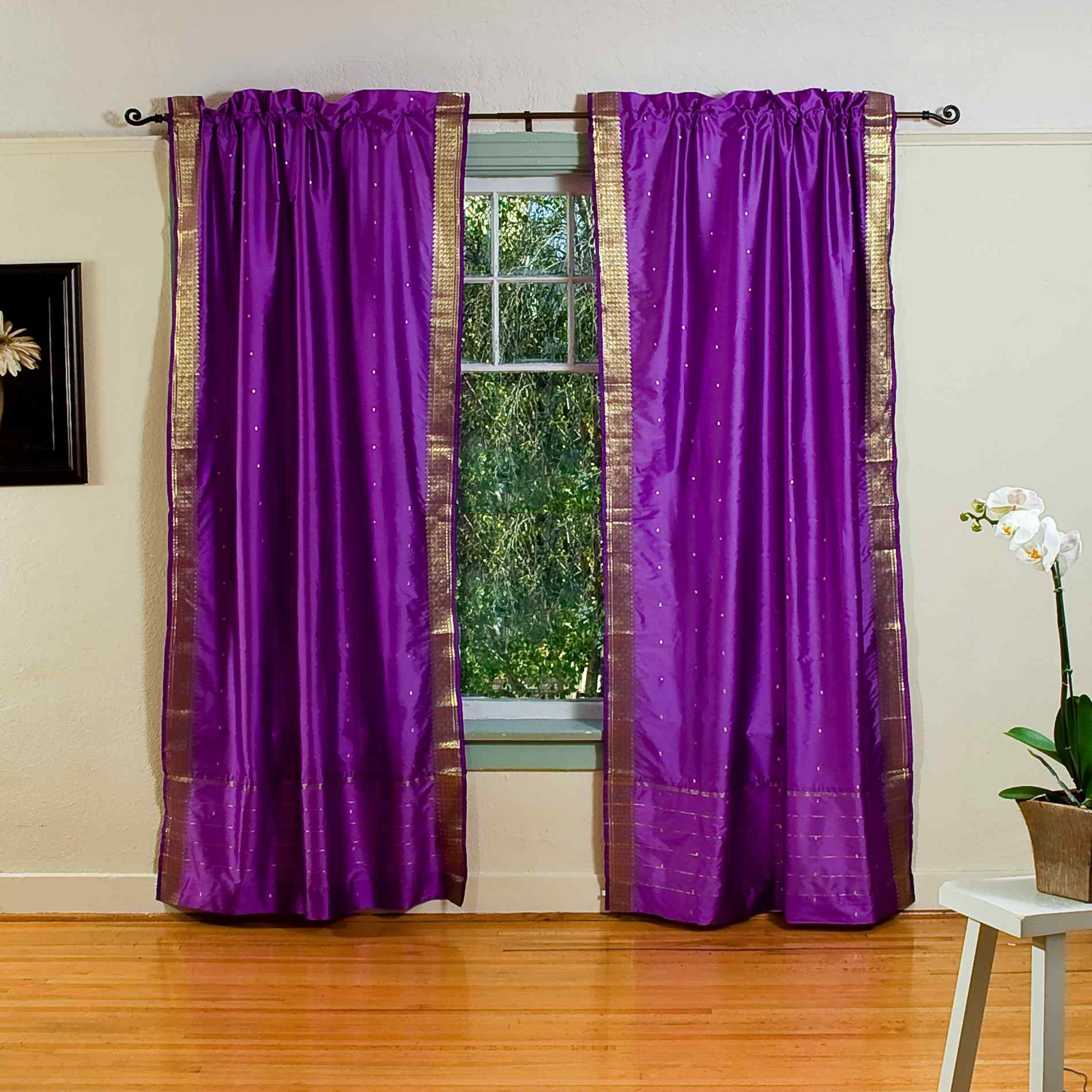 Drapes  Curtains  Purple  House  Home