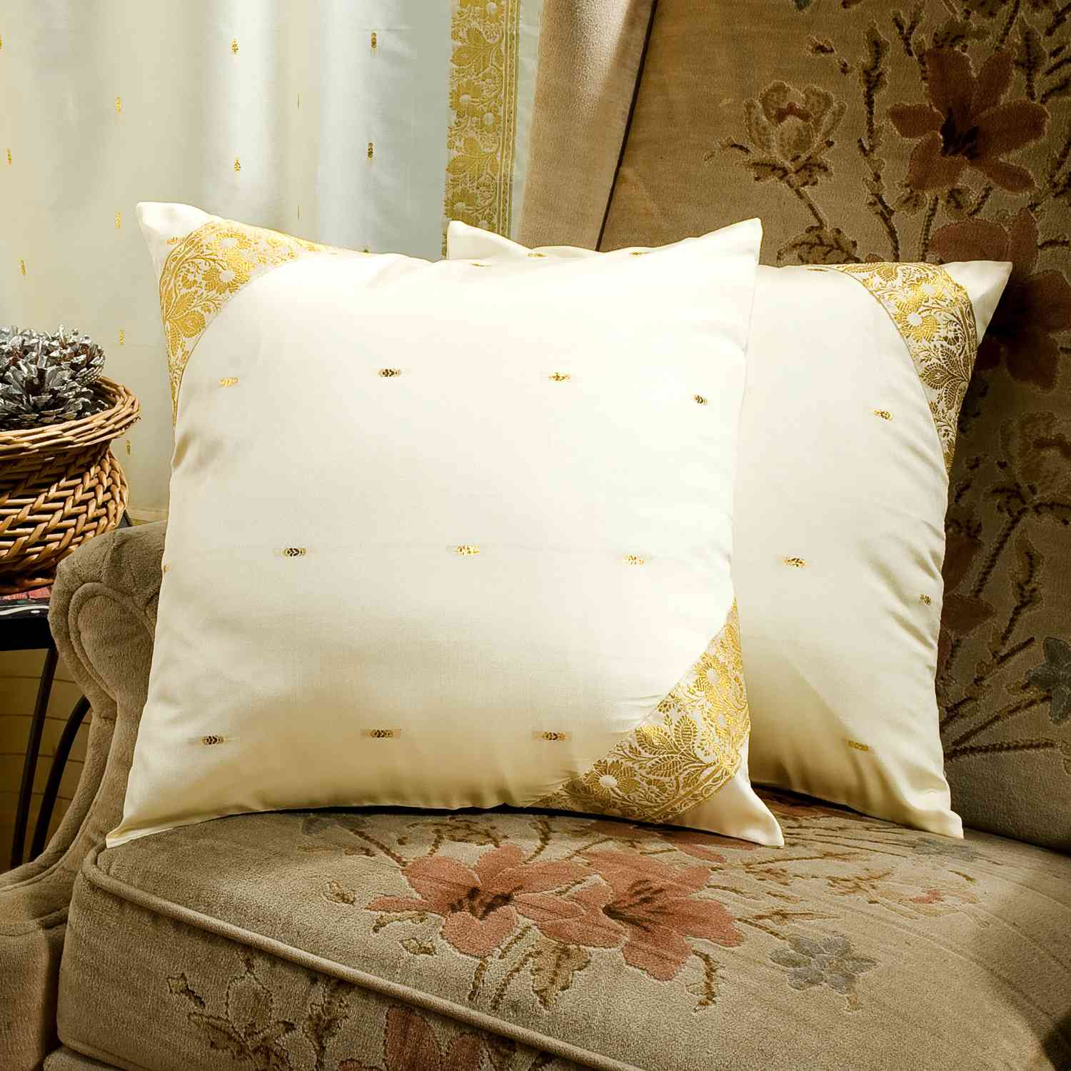 cream colored sofa pillows baker furniture neue decorative handcrafted cushion cover throw pillow