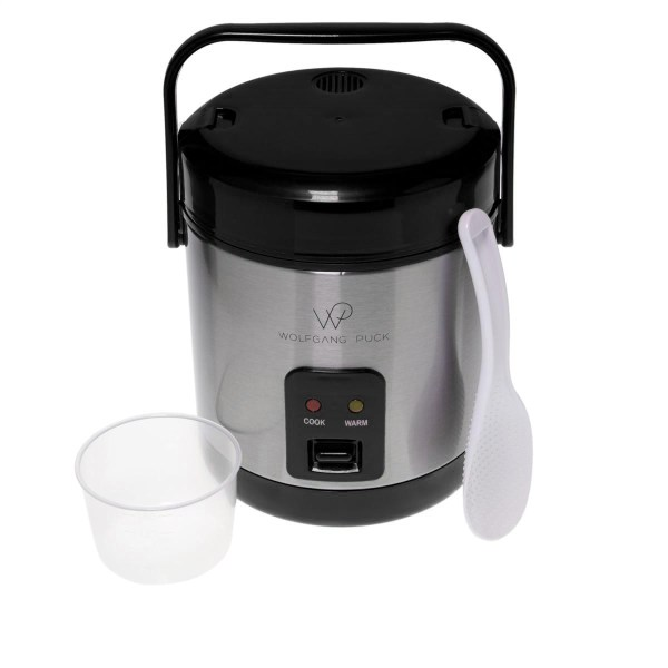 Wolfgang Puck Stainless Steel 1.5-cup Rice Cooker With Recipes