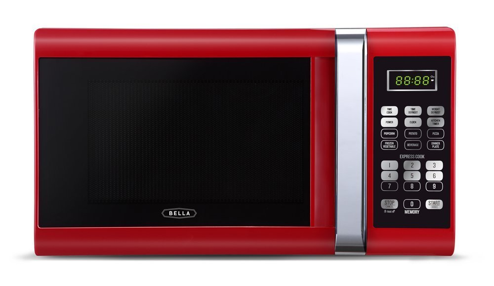 Bella Microwave Oven 900 Watt 09 Cubic Foot Red With Chrome EBay