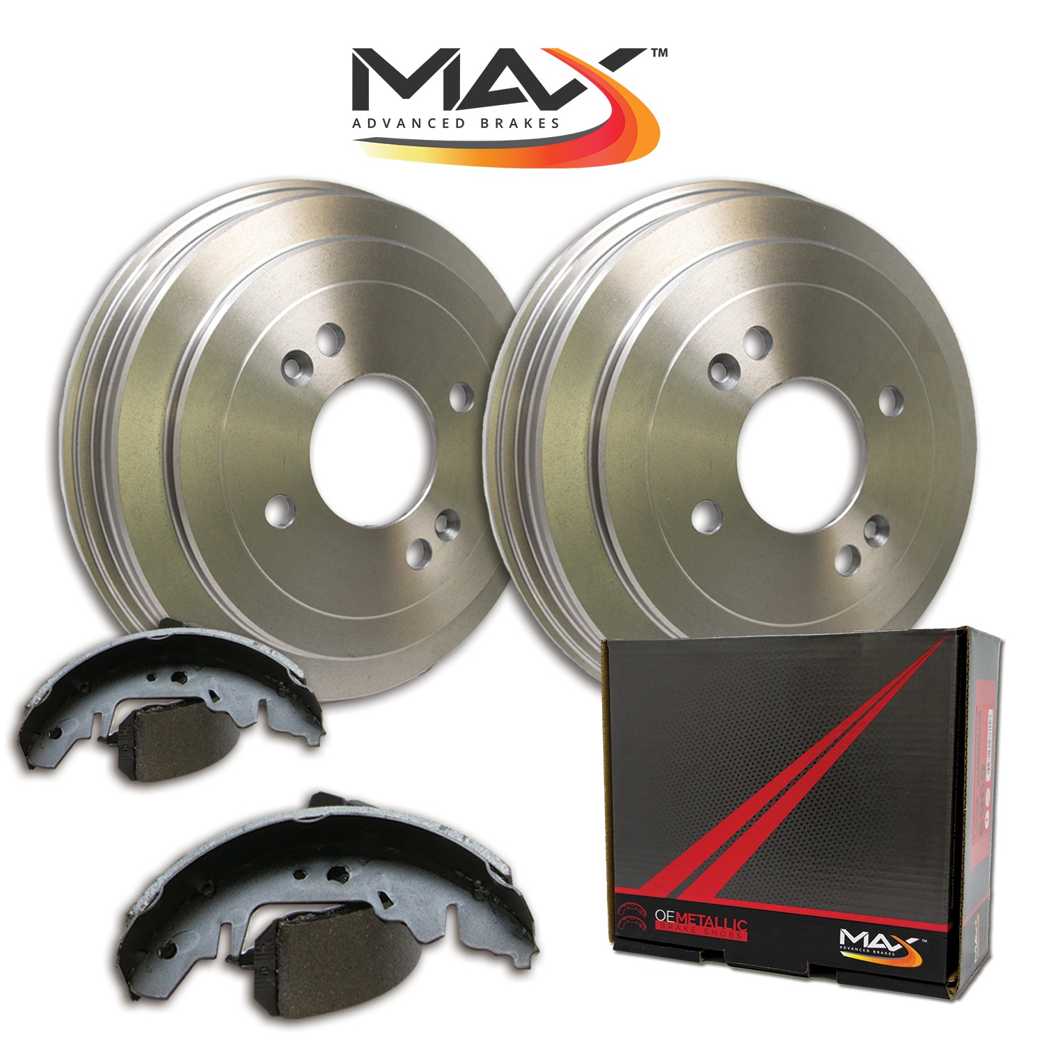 medium resolution of image is loading rear kit premium oe replacement brake drums and