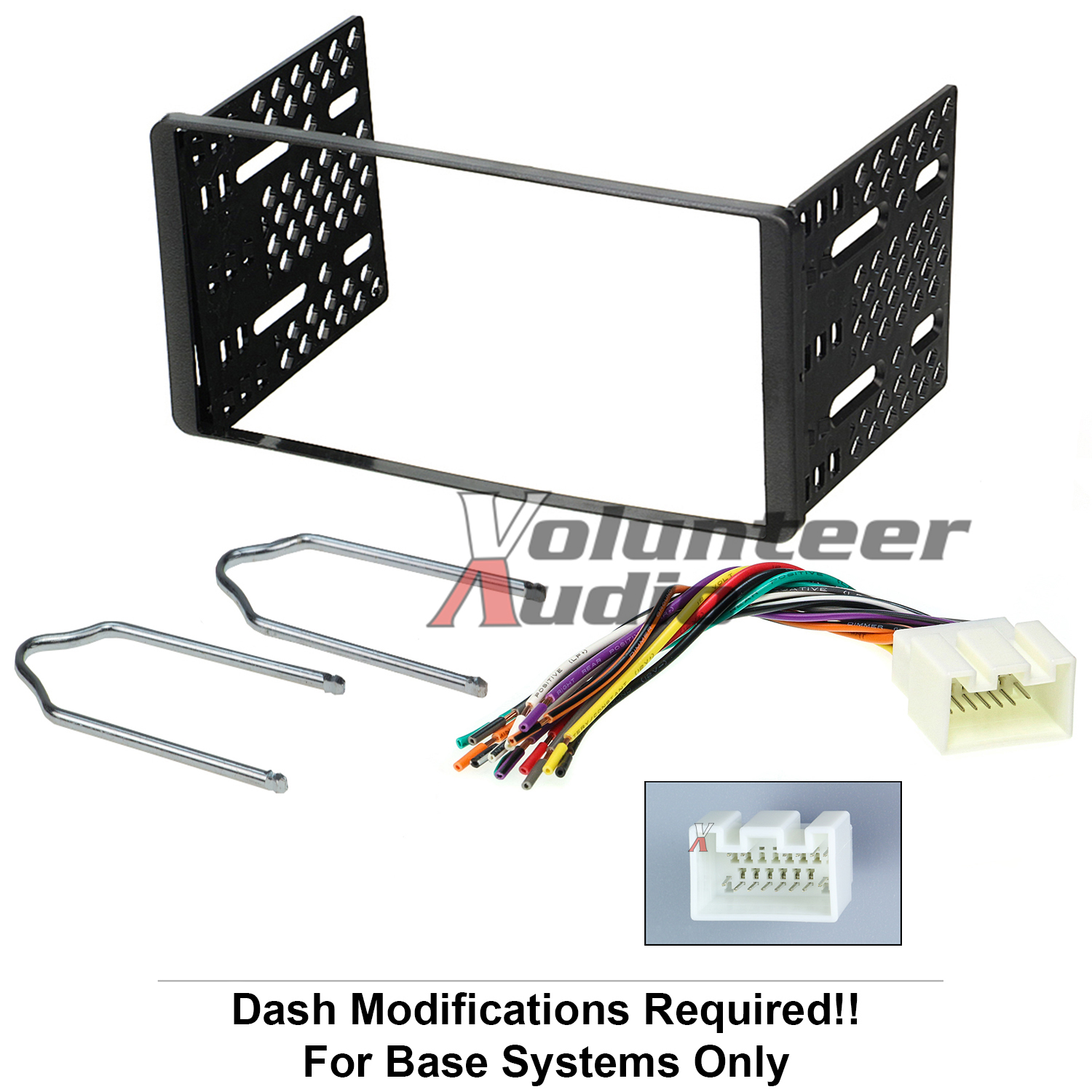 hight resolution of 1998 2011 double din radio mount kit for stereo cd player install w