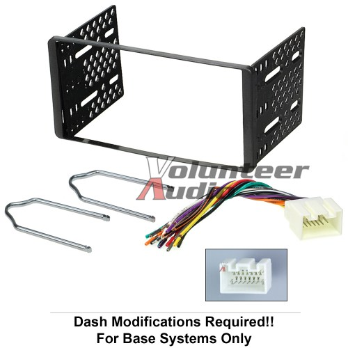 small resolution of 1998 2011 double din radio mount kit for stereo cd player install w