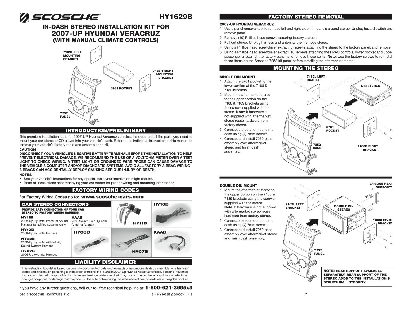 Car Radio Stereo CD Player Dash Install Mounting Trim