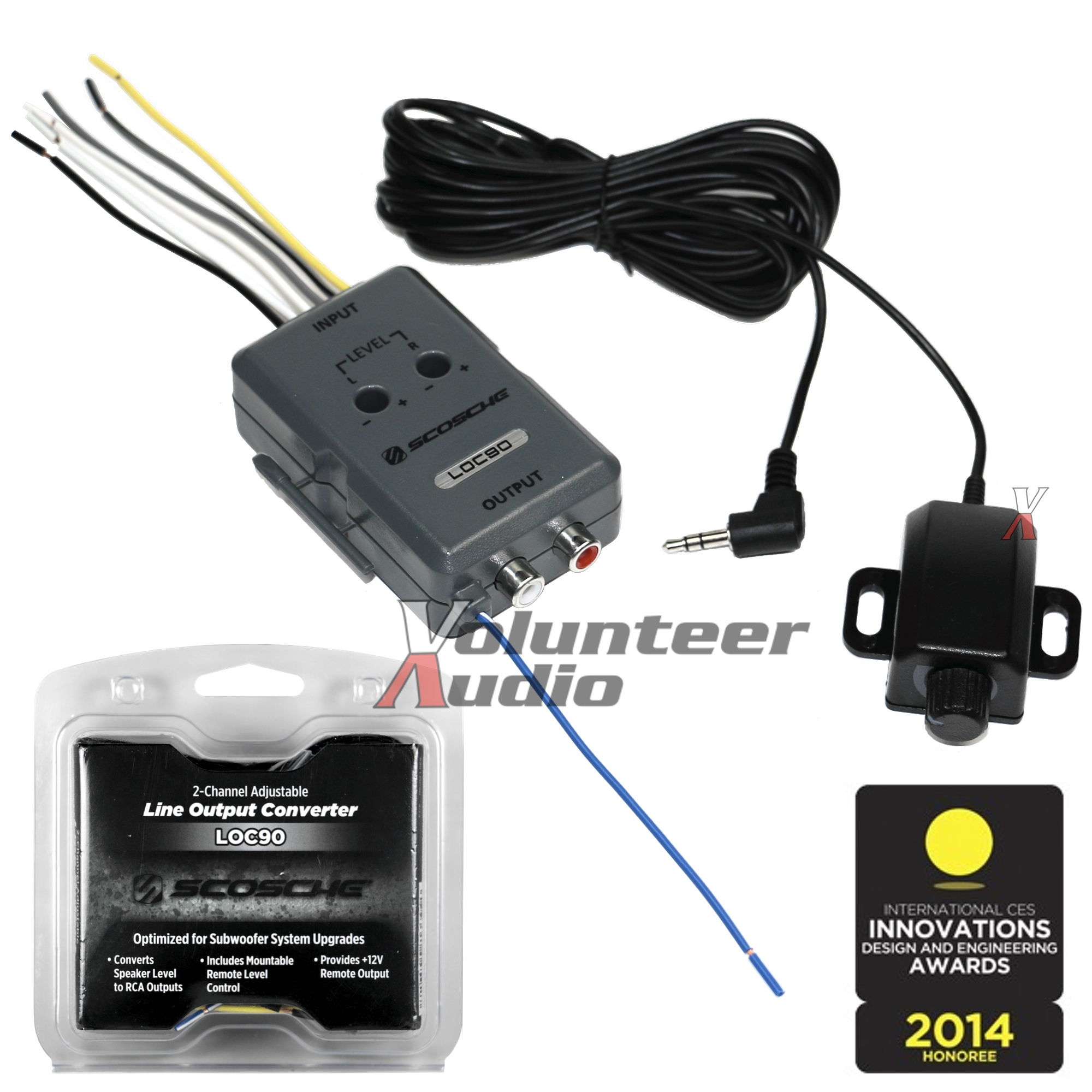 scosche line out converter diagram seat ibiza radio wiring loc90 high low level rca lineout 2