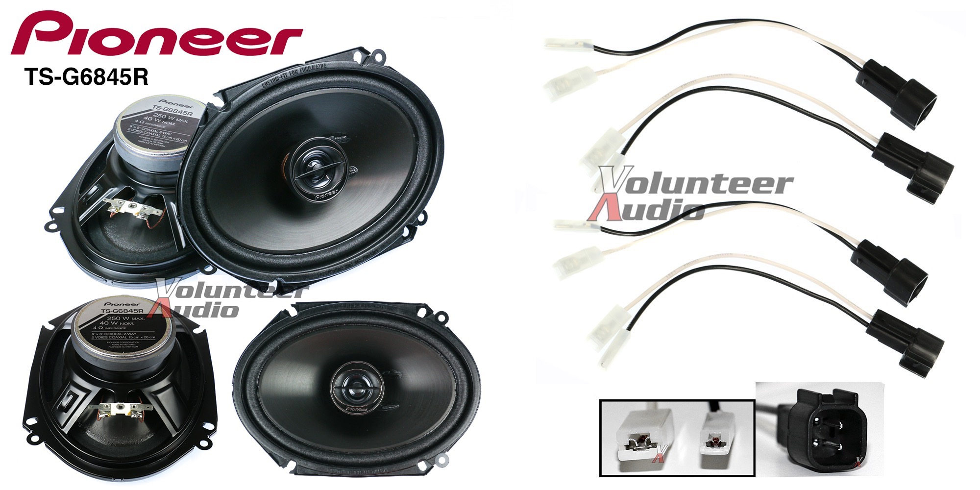 pioneer subwoofer wiring diagram 24v ts g6845r 6x8 speakers with harness fits