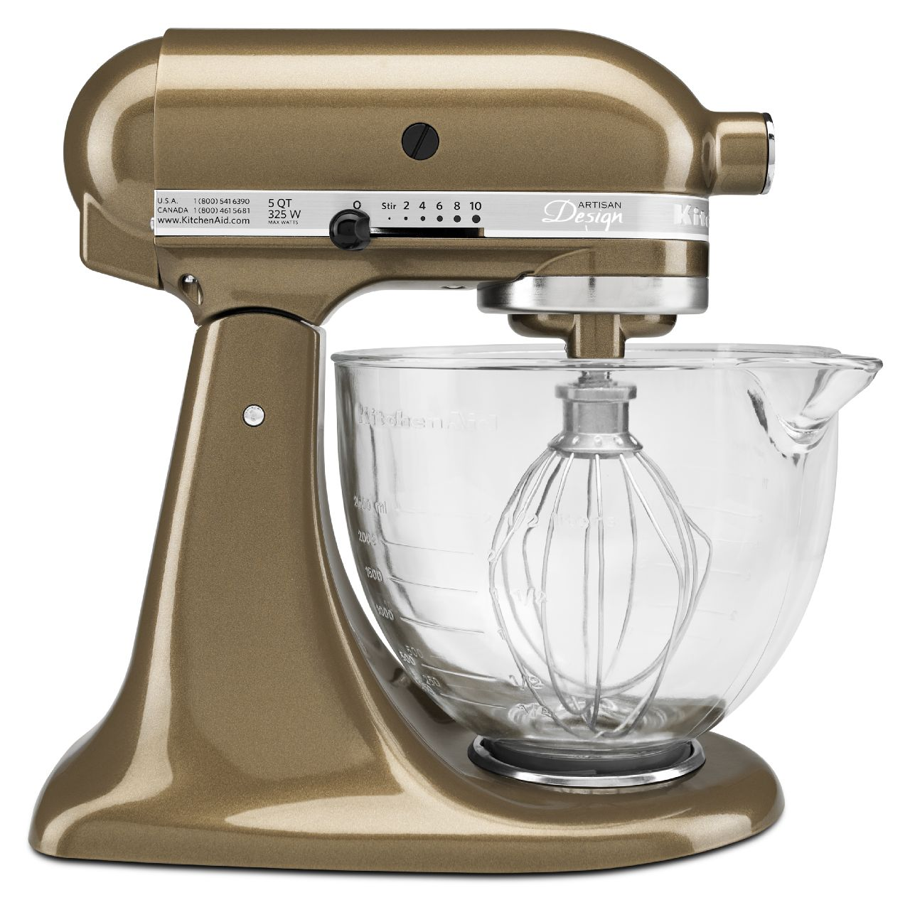 kitchen aid glass bowl beach cabinets kitchenaid artisan design 5qt tilt head stand mixer