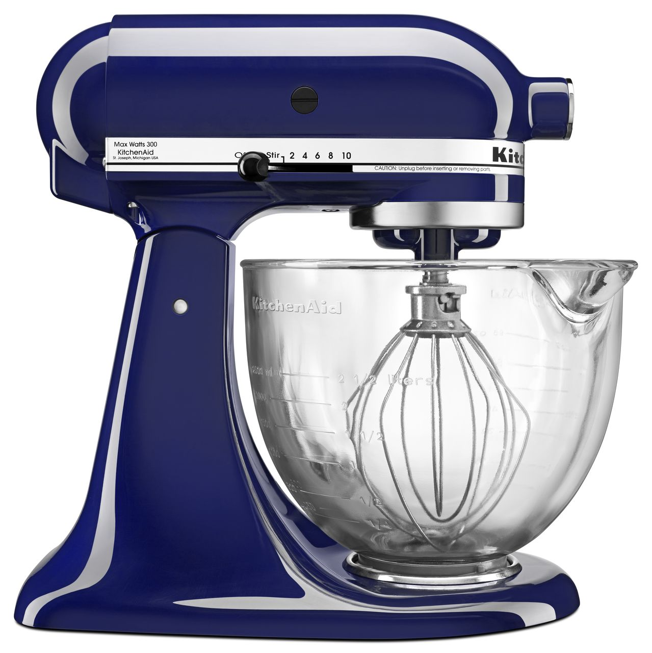 KitchenAid 5Quart TiltHead Stand Mixer with Glass Bowl
