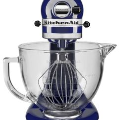 Kitchen Aid Glass Bowl Wall Mounted Table Kitchenaid 5 Quart Tilt Head Stand Mixer With