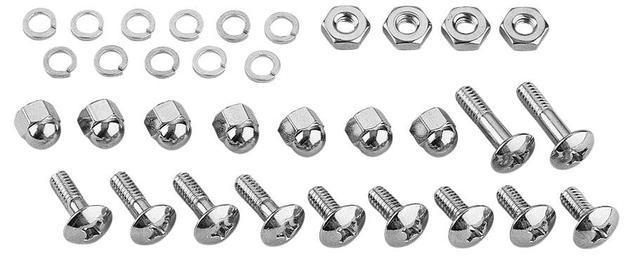 Colony Windshield Trim Mounting Hardware Kit w/Chrome Nuts