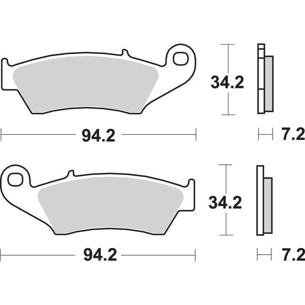 SBS SI Sinter Brake Pads #694SI fits Honda TRX450R