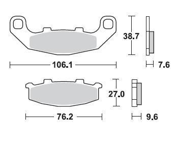 Braking SM1 Brake Pads #712SM1 Kawasaki EX250F Ninja 250R