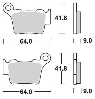 Braking CM46 Brake Pads #891CM46 KTM/Husqvarna/Husaberg