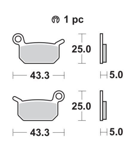 Braking CM44 Brake Pads #897CM44 KTM 50 SX/65 SX/50 SX