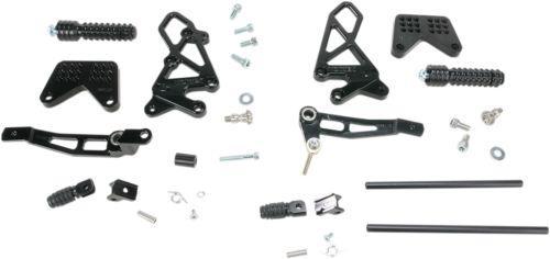 Vortex Adjustable Rearsets Version 2 Black Kawasaki Ninja