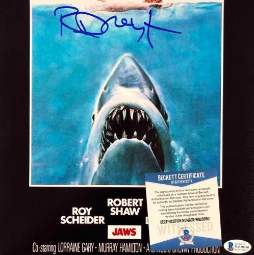richard dreyfuss signed jaws 11x17 movie poster photo beckett witness bas coa