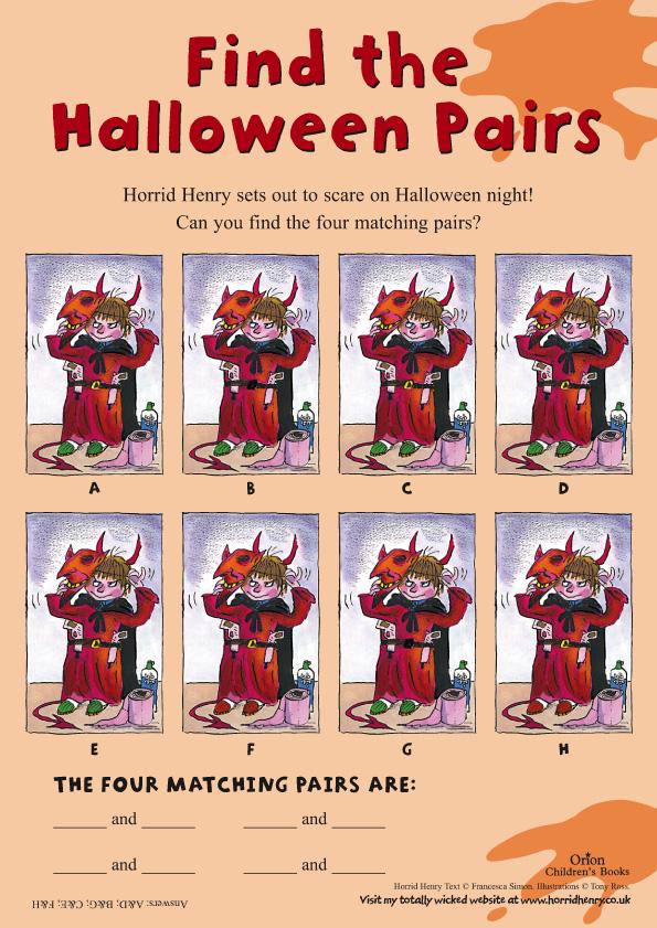 Halloween Horrid Henry : halloween, horrid, henry, Horrid, Henry, Halloween, Pairs, Scholastic, Kids'