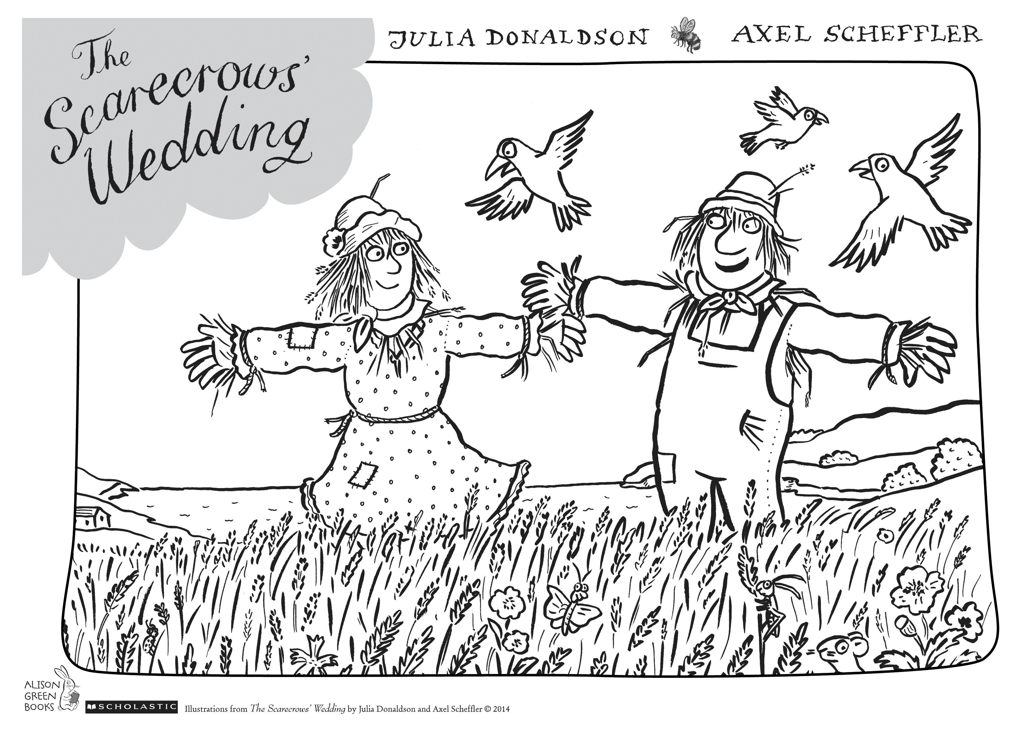 The Scarecrows Wedding Colouring Sheet