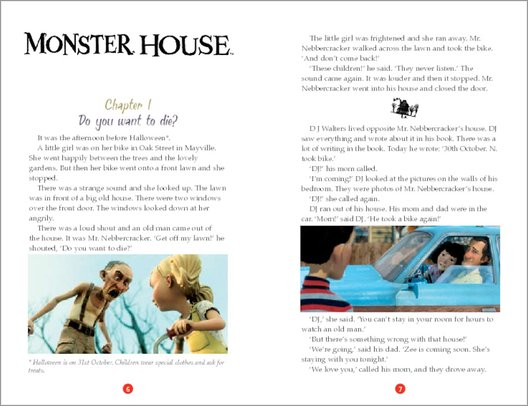 monster house sample page