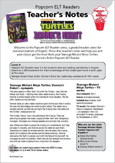 Rise Of The Teenage Mutant Ninja Turtles Ice Cream : teenage, mutant, ninja, turtles, cream, Teenage, Mutant, Ninja, Turtles:, Donnie's, Robot, Sample, Scholastic