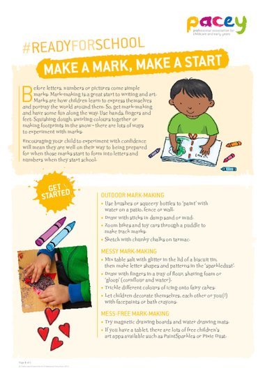Make A Mark : Mark,, Start, Early, Years, Teaching, Resource, Scholastic
