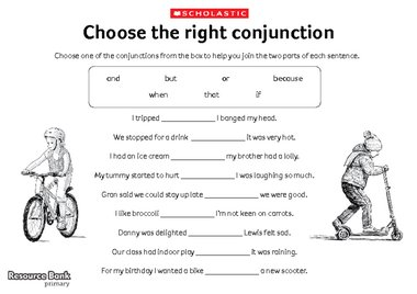 Choose the right conjunction