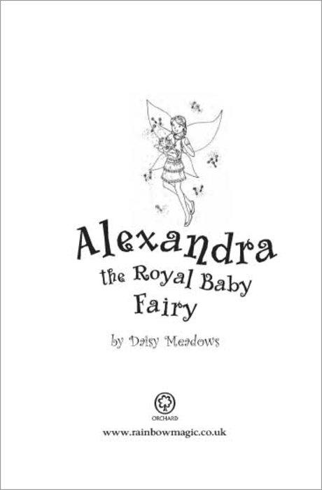 Rainbow Magic One-Offs: Alexandra the Royal Baby Fairy