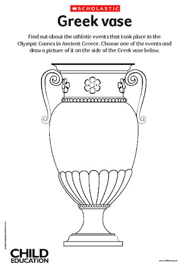 Decorate a Greek vase