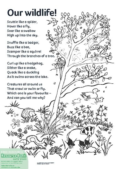 Our wildlife! poem