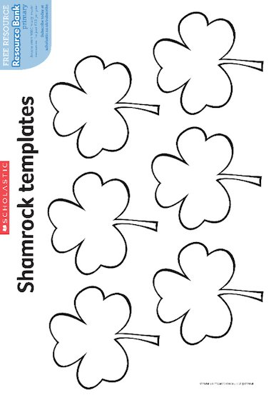 Saint Patrick's Day – Shamrock templates