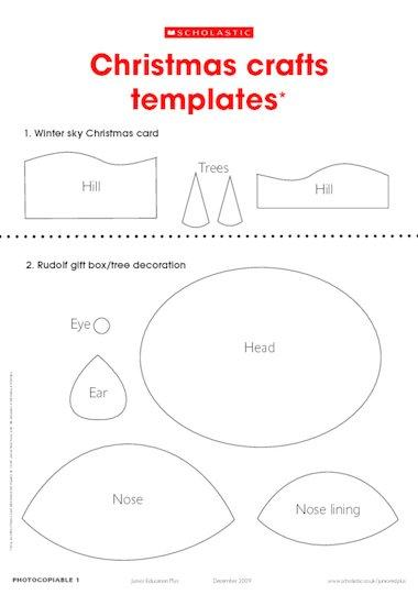 Christmas crafts templates