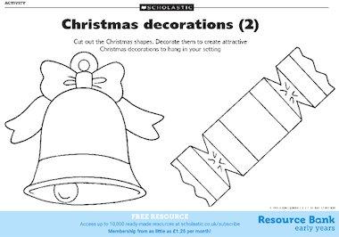 Christmas decorations templates 2