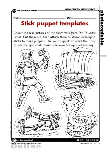 Stick-puppet templates