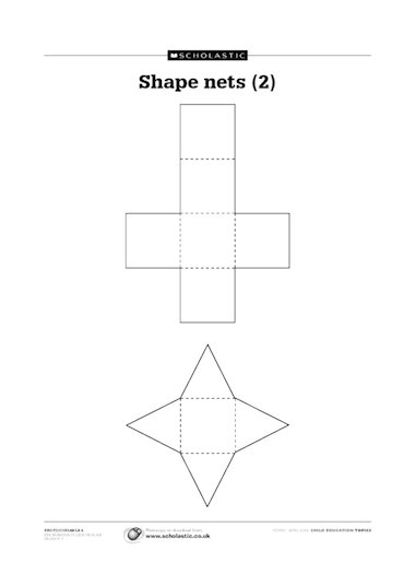 Shape nets – cube & pyramid
