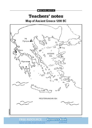 Blank Map Of Greece : blank, greece, Ancient, Greece, Primary, Teaching, Resource, Scholastic