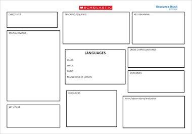 Languages – Short term plan – Block style