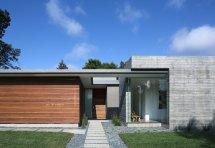 Modern One Story House Facade